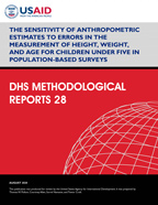 Cover of The Sensitivity of Anthropometric Estimates to Errors in the Measurement of Height, Weight, and Age for Children Under Five in Population-Based Surveys (English)