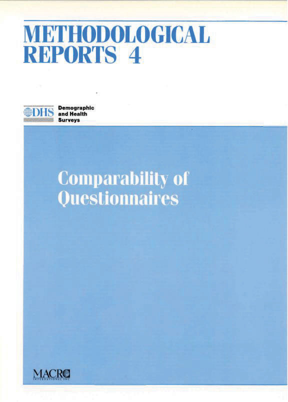 Cover of Comparability of Questionnaires (English)