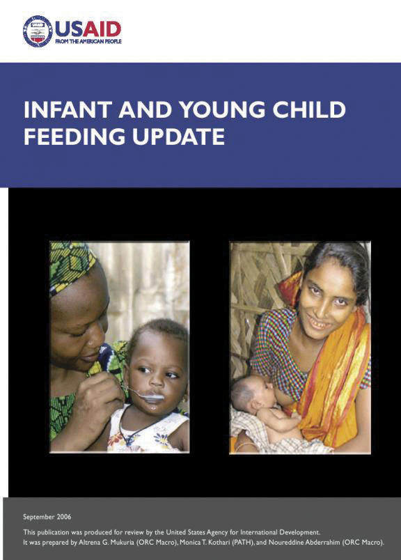 Cover of Infant and Young Child Feeding Update, 2006 (English)