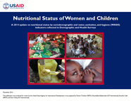 Cover of Nutritional Status of Women and Children: A 2014 update on nutritional status by sociodemographic and water, sanitation, and hygiene (WASH) indicators collected in Demographic and Health Surveys (English)