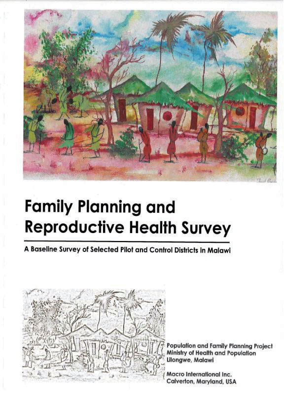 Cover of Family Planning and Reproductive Health Survey (English)