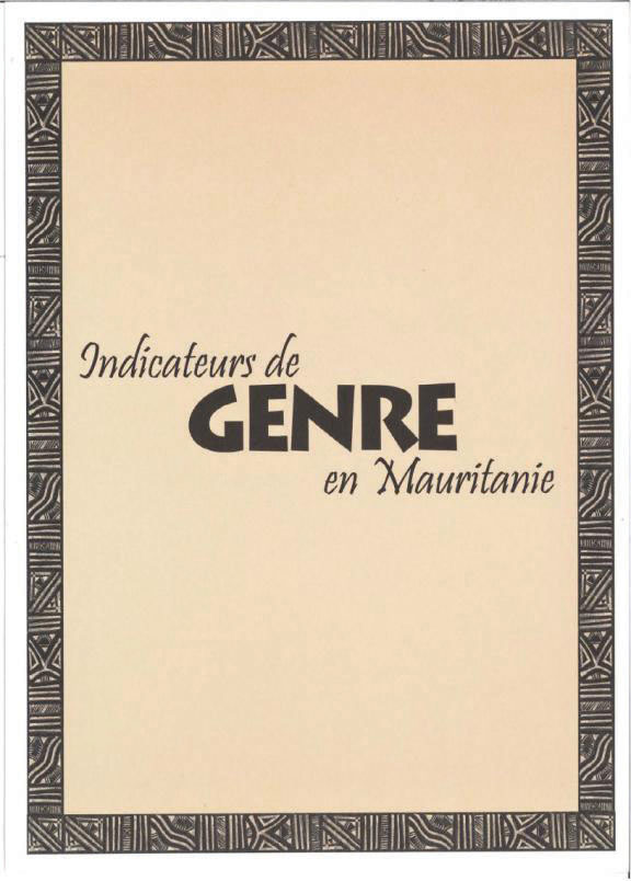 Cover of Indicateurs de Genre en Mauritanie (French)