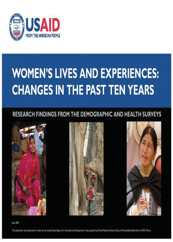 Cover of Women's Lives and Experiences: Changes in the Past Ten Years (English)