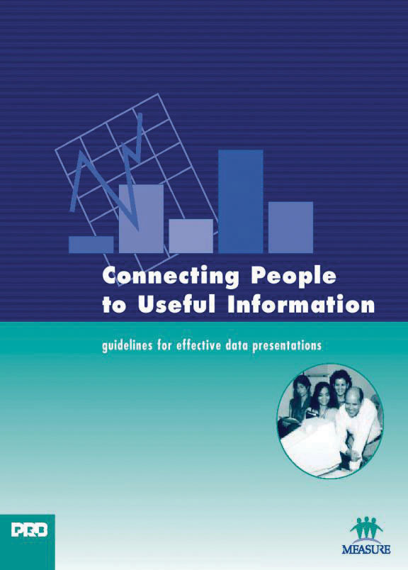 Cover of Connecting People to Useful Information - Guidelines for Effective Data Presentations (English)
