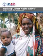 Cover of Revising Unmet Need: In Brief - Analysis Summary from MEASURE DHS (English, French)