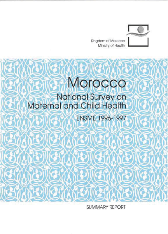 Cover of Morocco National Survey on Maternal & Child Health (PAPCHILD), 1996/97 (English, French)