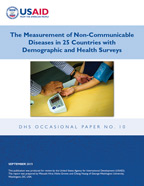 Cover of The Measurement of Non-Communicable Diseases in 25 Countries with Demographic and Health Surveys (English)