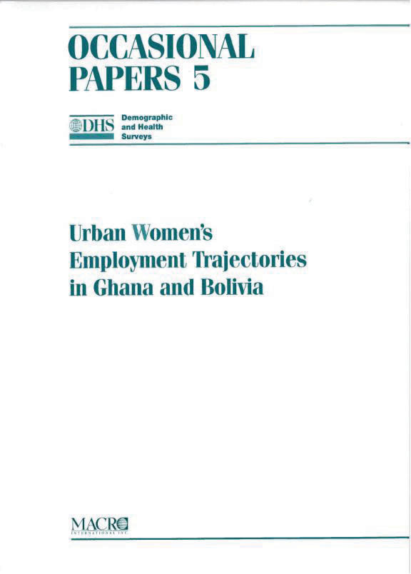 Cover of Urban Women's Employment Trajectories in Ghana and Bolivia (English)