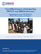 Cover of Cost-Effectiveness of Integrating PMTCT and MNCH Services: An Application of the LiST Model for Malawi, Mozambique, and Uganda (English)