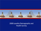 Cover of Lesotho: DHS, 2009 - Survey Presentations (English)