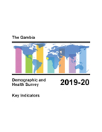 Cover of Gambia DHS 2019-20 (English)