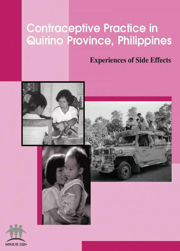 Cover of Contraceptive Practice in Quirino Province, Philippines:  Experiences of Side Effects (English)