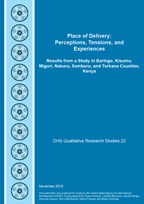 Cover of Place of Delivery: Perceptions, Tensions, and Experiences (English)