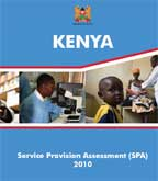 Cover of Kenya SPA, 2010 - Final Report (English)