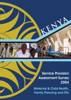 Cover of Kenya HIV/MCH SPA, 2004 - Final Report - MCH SPA (English)