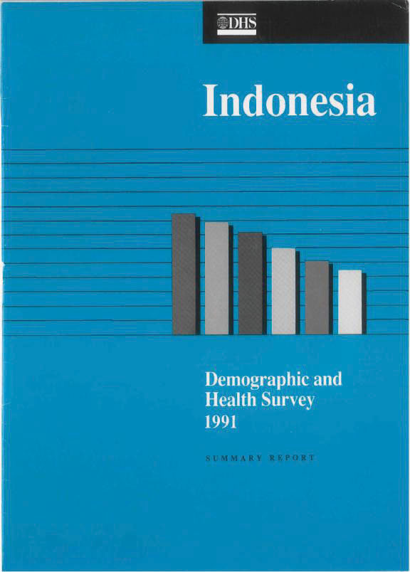 Cover of Indonesia DHS, 1991 - Summary Report (English)