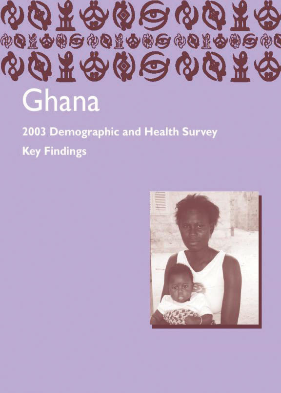 Cover of Ghana DHS, 2003 - Summary Report (English)