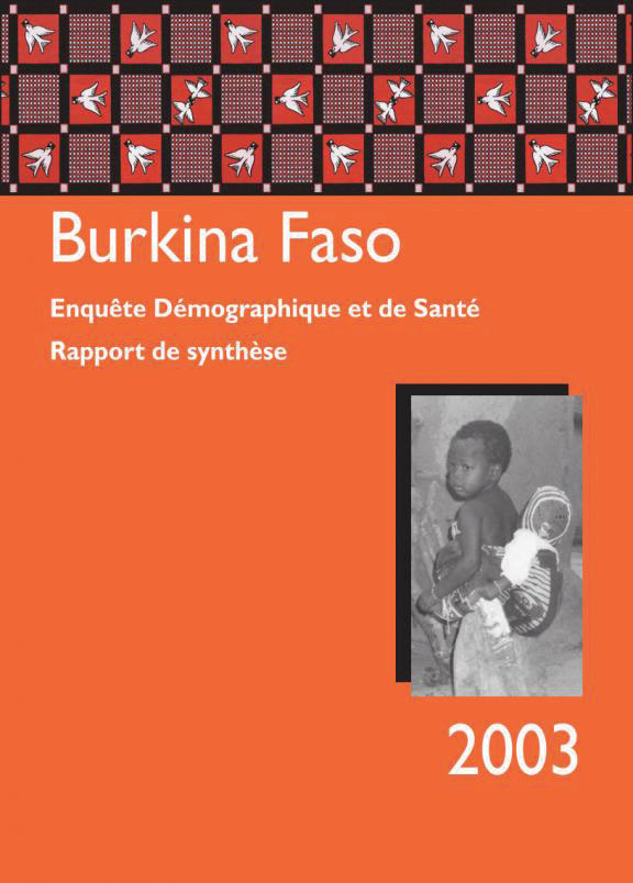 Cover of Burkina Faso DHS, 2003 - Summary Report (French)