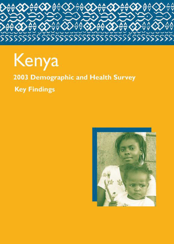 Cover of Kenya DHS, 2003 - Summary Report (English)