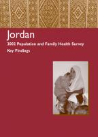Cover of Jordan DHS, 2002 - Key Findings (English)
