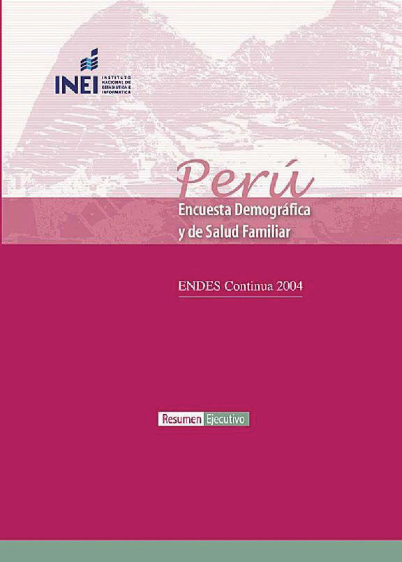 Cover of Peru DHS, 2004-06 - Summary Report Continuous (Spanish)