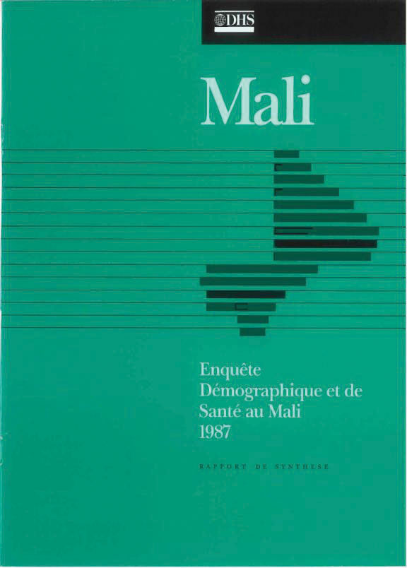 Cover of Mali DHS, 1987 - Summary Report (French)