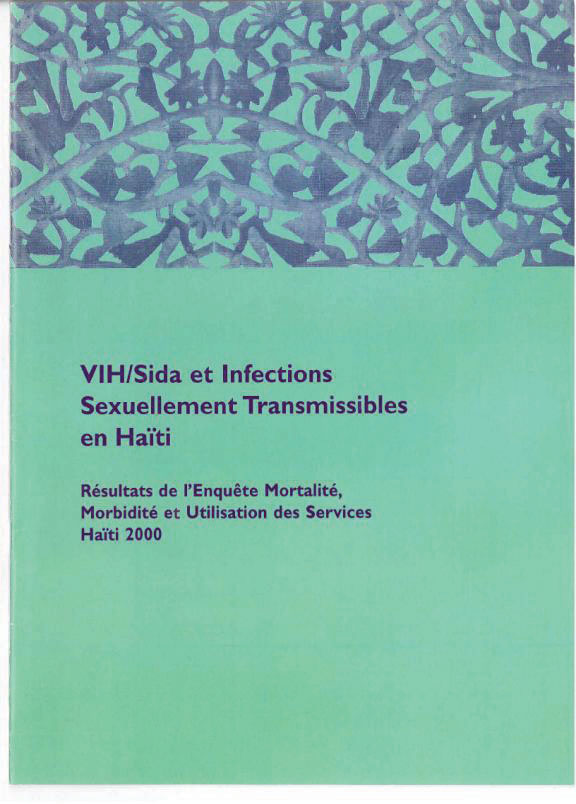 Cover of Haiti DHS, 2000 - VIH/Sida et Infections Sexuellement Transmissibles en Haïti (French)