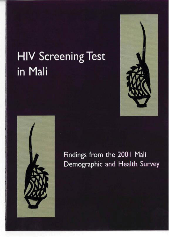 Cover of Mali DHS, 2001 - HIV Screening Test in Mali (English, French)