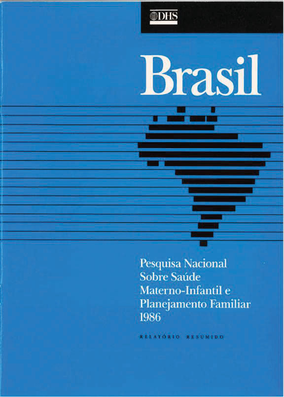 Cover of Brazil DHS, 1986 - Summary Report (Portuguese)