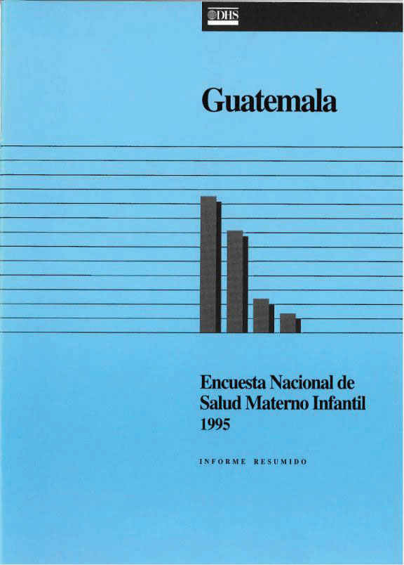 Cover of Guatemala DHS, 1995 - Summary Report (Spanish)
