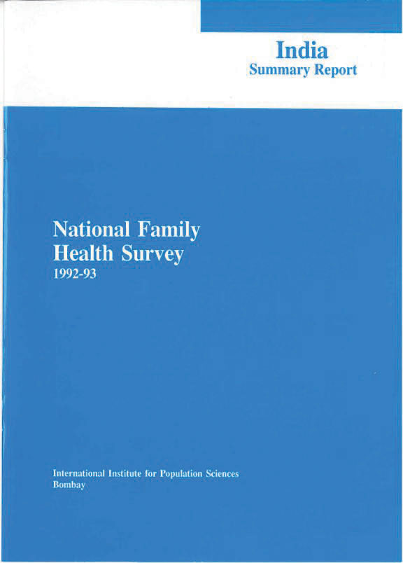 Cover of India DHS, 1992-93 - Summary Report (English)