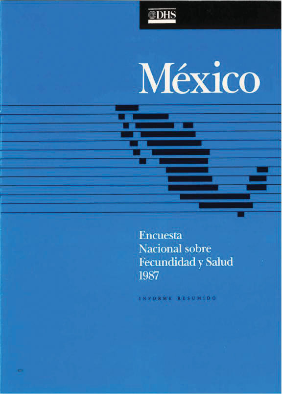Cover of Mexico DHS, 1987 - Summary Report (Spanish)