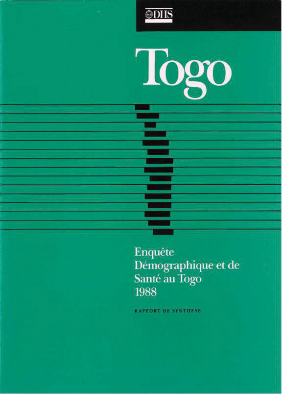 Cover of Togo DHS, 1988 - Summary Report (French)