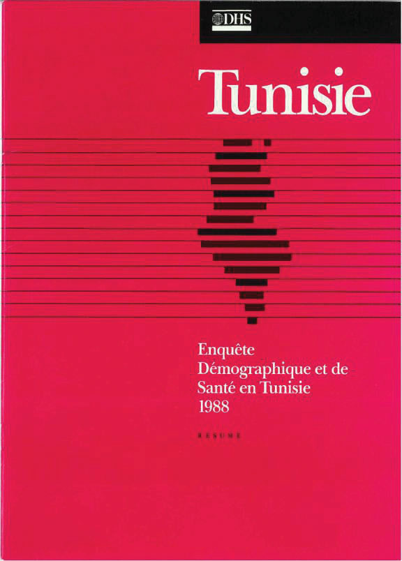 Cover of Tunisia DHS, 1988 - Summary Report (French)