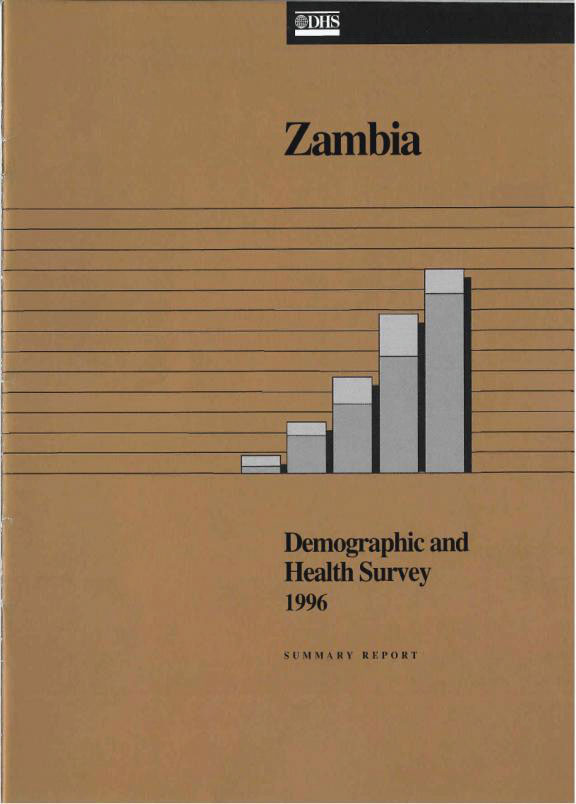 Cover of Zambia DHS, 1996 - Summary Report (English)