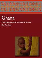 Cover of Ghana DHS, 2008 - Key Findings (English)