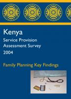 Cover of Kenya HIV/MCH SPA, 2004 - Key Findings - Family Planning (English)