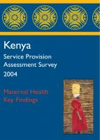 Cover of Kenya HIV/MCH SPA, 2004 - Key Findings - Maternal Health (English)