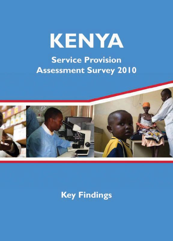 Cover of Kenya HIV/MCH SPA, 2010 - Key Findings (English)