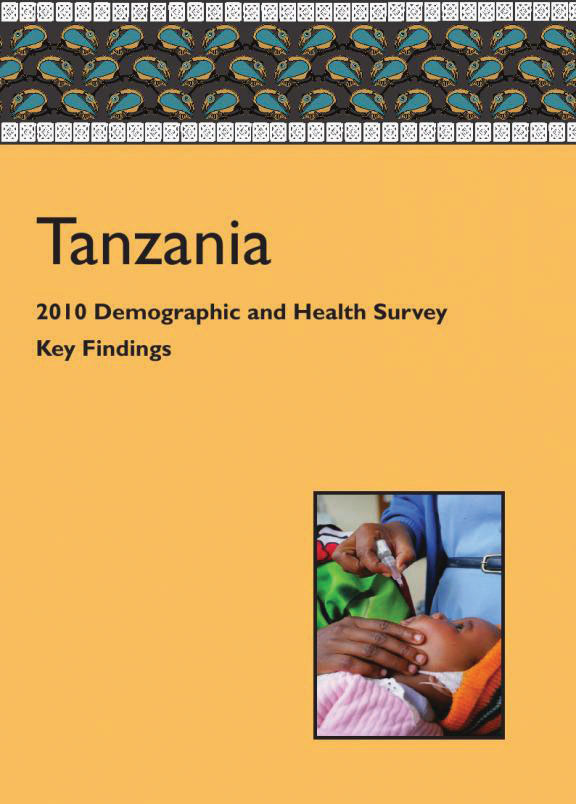 Cover of Tanzania DHS, 2010 - Key Findings (English)