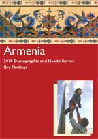 Cover of Armenia DHS, 2010 - Key Findings (English)