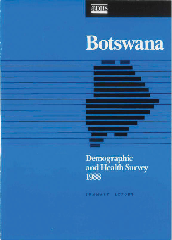 Cover of Botswana DHS, 1988 - Summary Report (English)