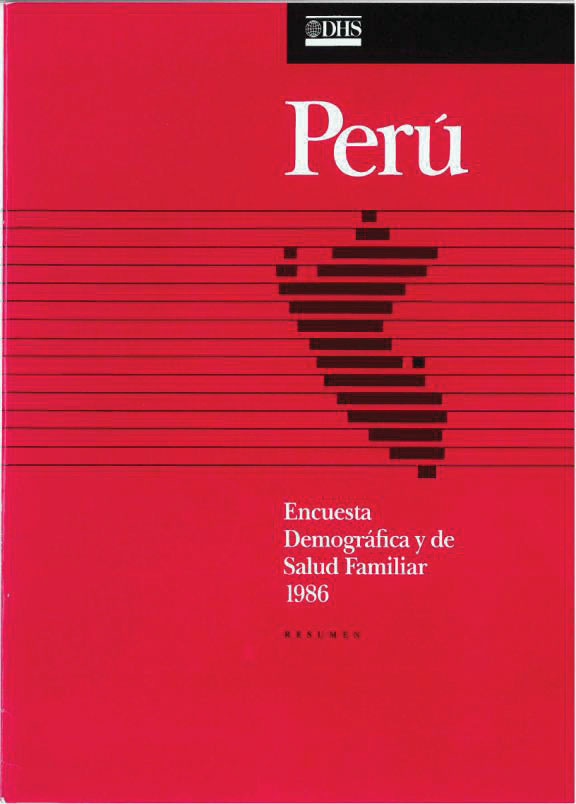 Cover of Peru DHS, 1986 - Summary Report (Spanish)