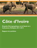 Cover of Cote d'Ivoire DHS, 2011-12 - Key Findings (French)