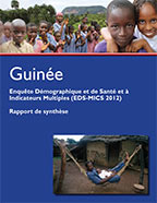 Cover of Guinea DHS, 2012 - Key Findings (French)