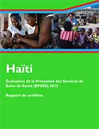 Cover of Haiti SPA, 2013 - Key Findings (French)
