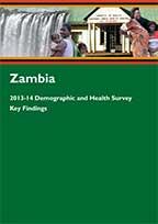 Cover of Zambia DHS, 2013-14 - Key Findings (English)
