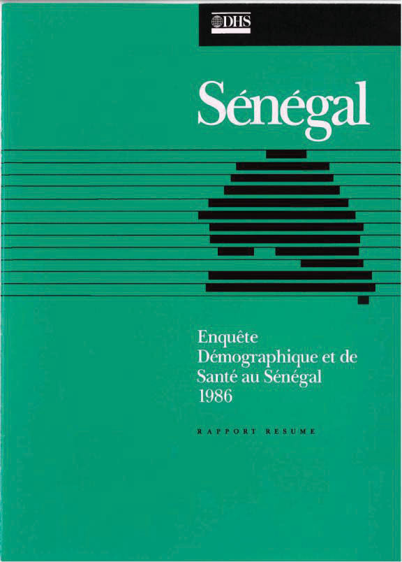 Cover of Senegal DHS, 1986 - Summary Report (French)