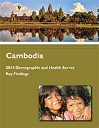Cover of Cambodia DHS, 2014 - Key Findings (English)