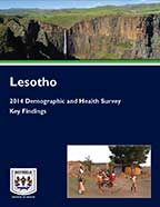 Cover of Lesotho DHS, 2014 - Key Findings (English)